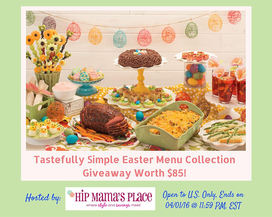 Tastefully simple easter menu collection giveaway for Easy easter menu ideas