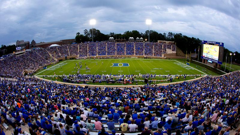 Duke Debuts Brooks Field at Wallace Wade Stadium