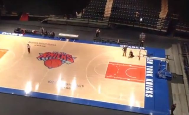 Crazy Basketball Shot Five Stories Above Madison Square Garden That Must Be Seen To Be Believed