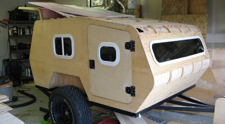 Build It Yourself Campers Build It Yourself Cabin Kits: DIY Off Road Teardrop Camper Made For Rough Terrain