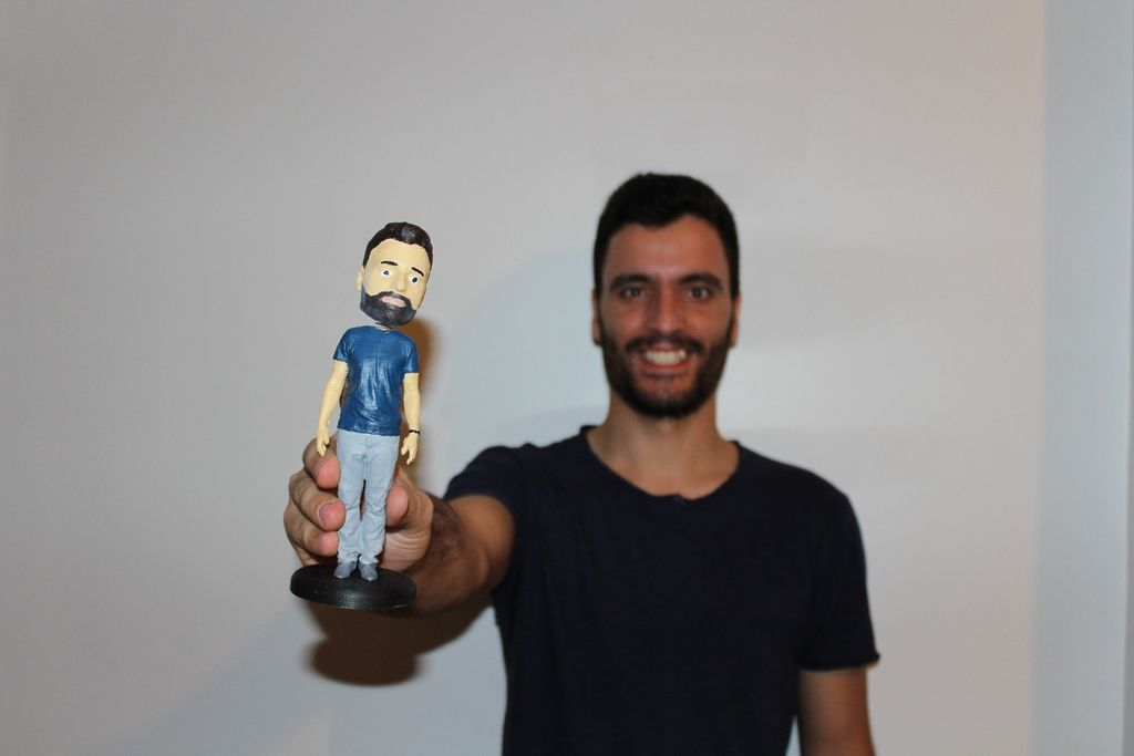 3d printed bobblehead - high resolution full body scanned and hand ...
