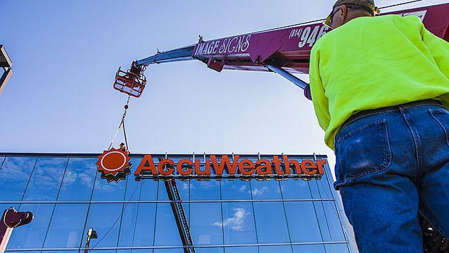 New Accuweather Logo Photos Accuweather Raises New
