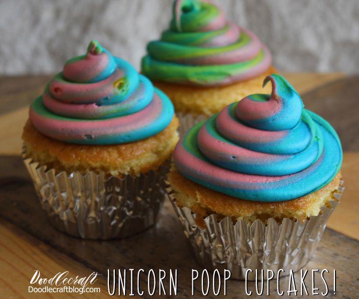 Unicorn Poop Cupcakes!  Unicorn Poop Cupcakes Recipe