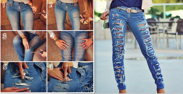 15 fashionable diy ideas for making fantastic jeans all for fashion design