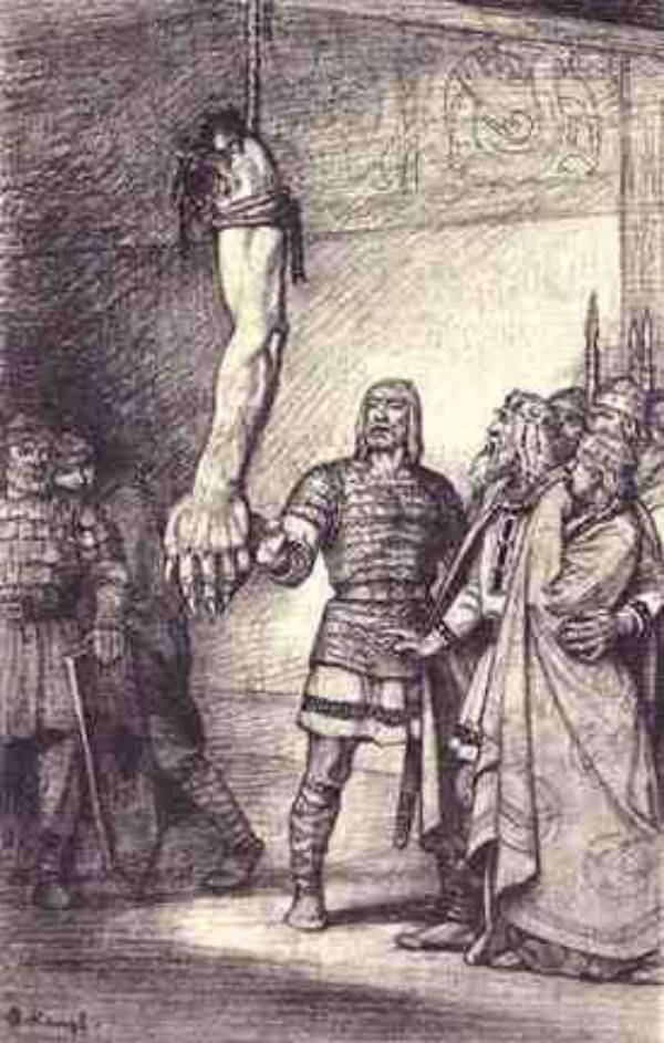 an issue of religion in the tale of beowulf It's no accident that the only biblical story specifically referred to in beowulf is the tale of cain and abel, two brothers who took part in a murderous feud in medieval scandinavia, tribe against tribe and clan against clan often came down to fratricidal combat.