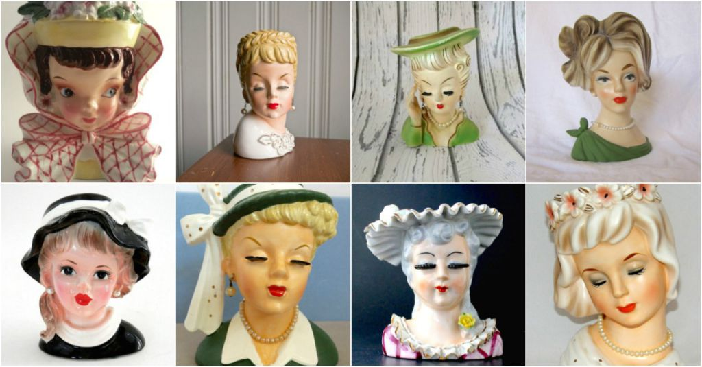Valuable Antique Lady Head Vases Transport Us To Another Era