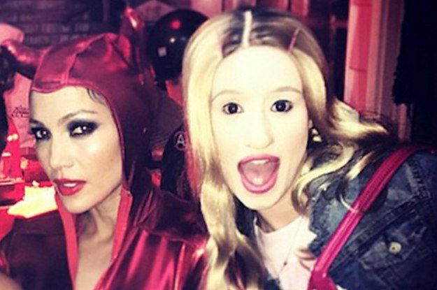 Iggy azalea dressed as the movie quot white chicks quot for halloween