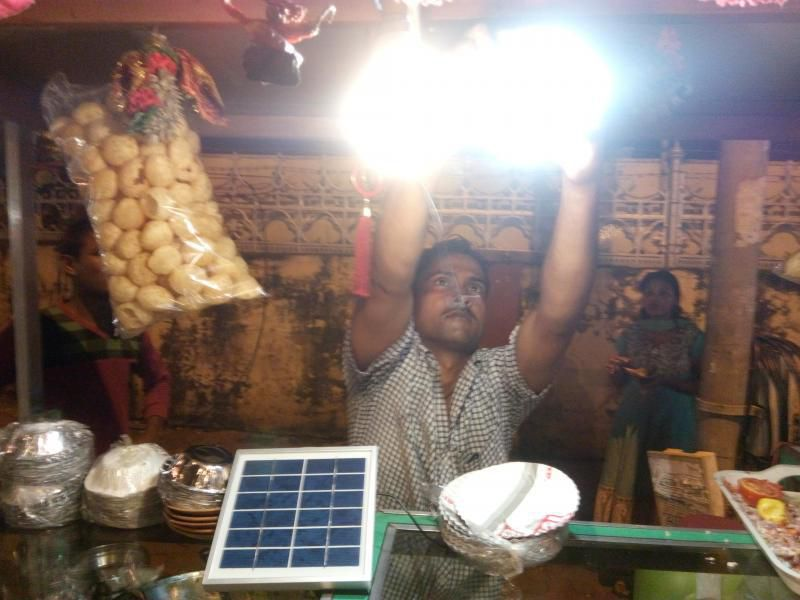 This Pani Puri wala goes green by using electricity from solar panel