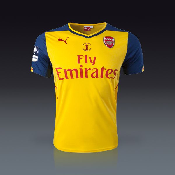 uk availability f2f65 e401a PUMA Arsenal FA Cup Final Away Jersey 14/15