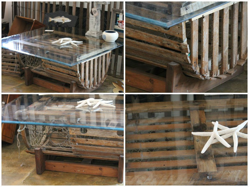 Repurposed Lobster Trap into Coffee Table | Recyclart