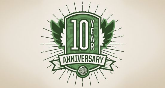 Year anniversary logo design the inspiration