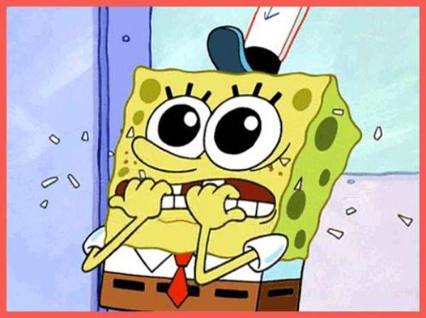 Suspicious Spongebob Gif Gif Nervous Spongebob