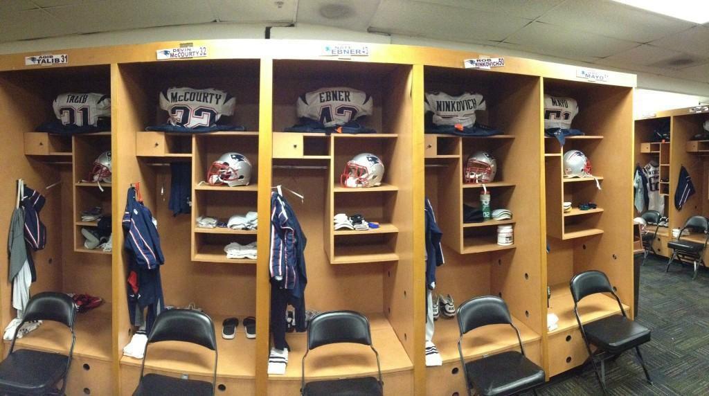 A Look Inside The Patriots Locker Room In Jacksonville