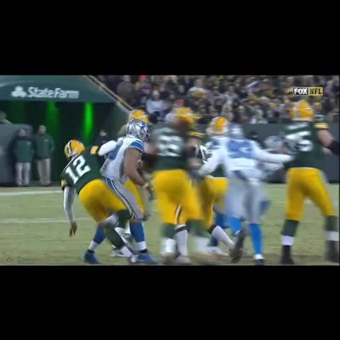 Aaron Rodgers >> Ndamukong Suh Steps On Aaron Rodgers' Ankle