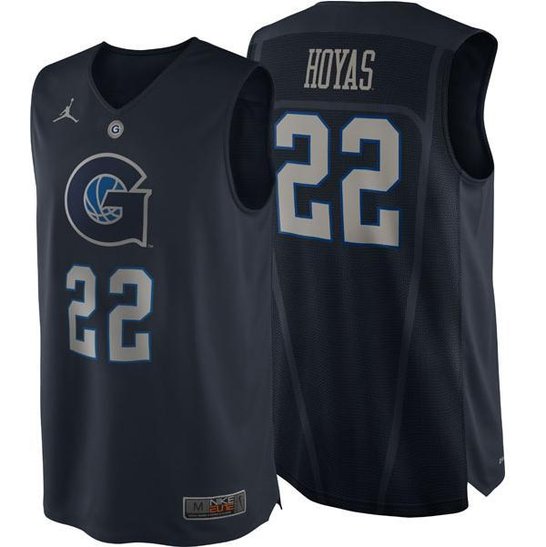 Nike unveils new Georgetown pro combat basketball jersey.