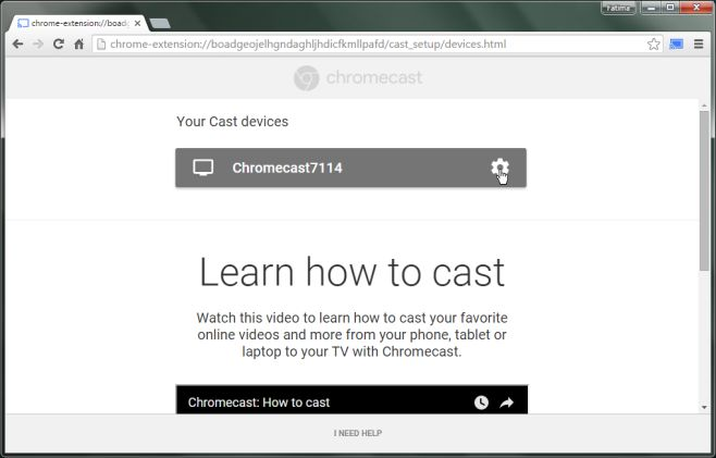 how to connect device to chromecast