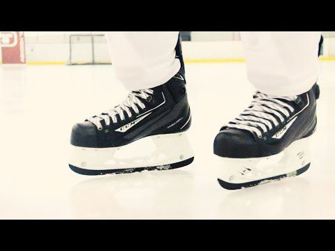 how to stop on ice skates youtube