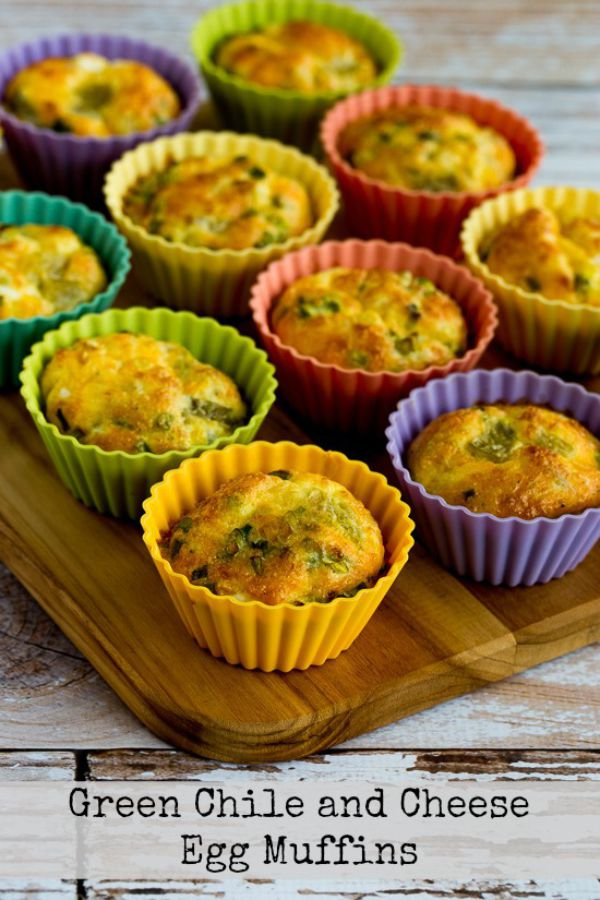 Low-Carb Green Chile and Cheese Egg Muffins