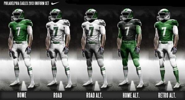Philadelphia Eagles possible new uniforms for 2013 ...