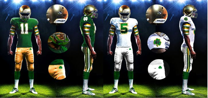notre dame football 2014 shamrock series uniforms