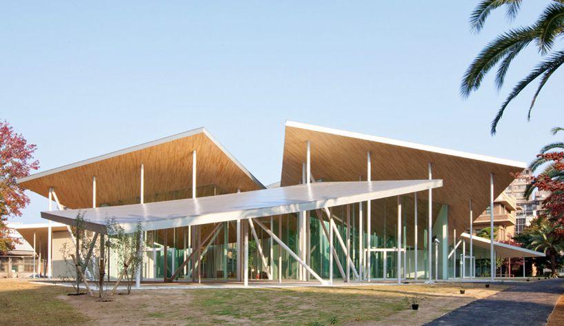 Sanaa Places Junko Fukutake Hall Beneath Angled Steel Roof
