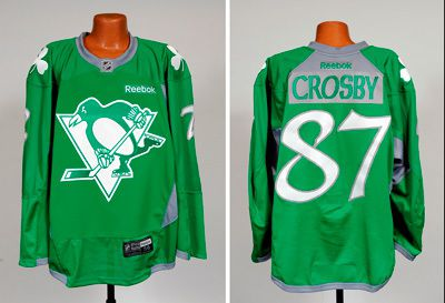 official photos 5b042 865fc The Pittsburgh Penguins will wear special green warm-up ...