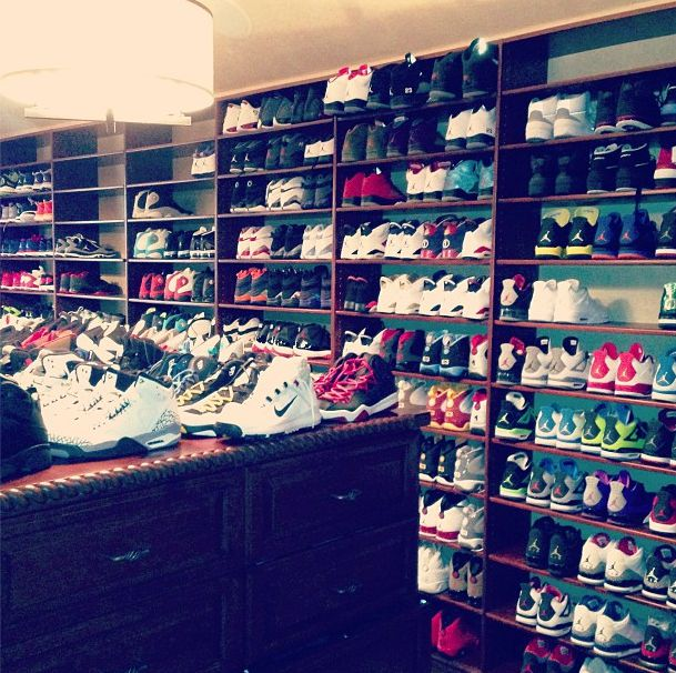Cp3 Has A Huge Shoe Closet Not Pictured Are The 3 Asian Kids That Work There