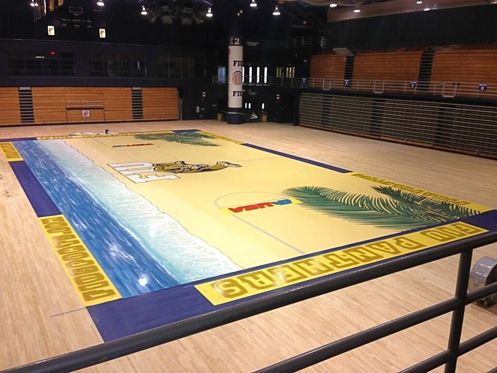 FIU's beach themed basketball court has become a reality
