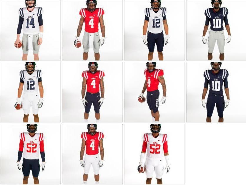 buy online 60a09 d7ffe 2013 Ole Miss football Nike uniforms.