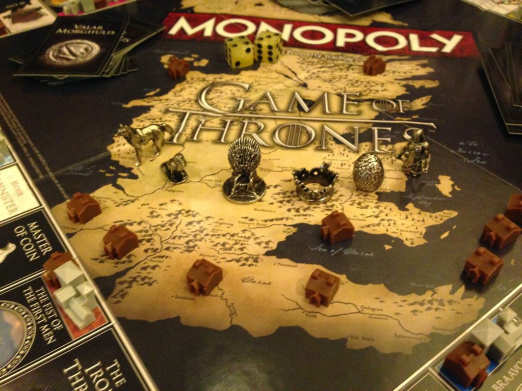 monopoly game of thrones. Black Bedroom Furniture Sets. Home Design Ideas