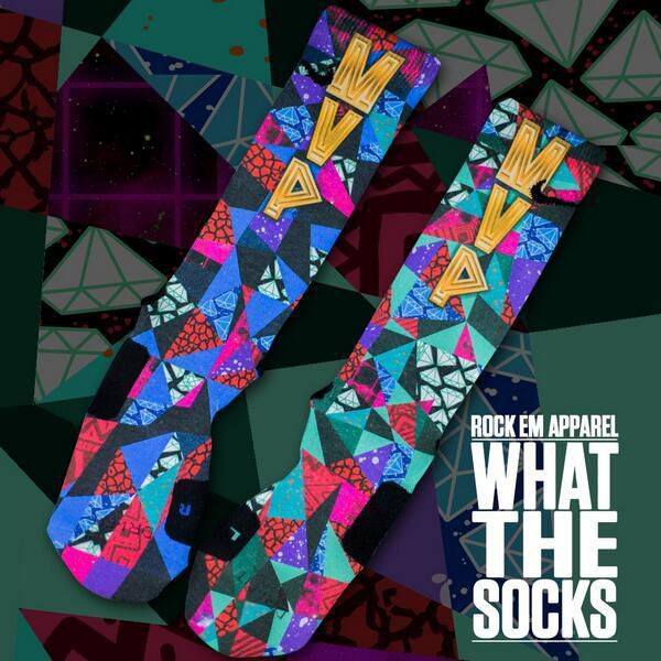 "Custom LeBron James MVP ""What the Socks"" Nike Elites. (via ..."