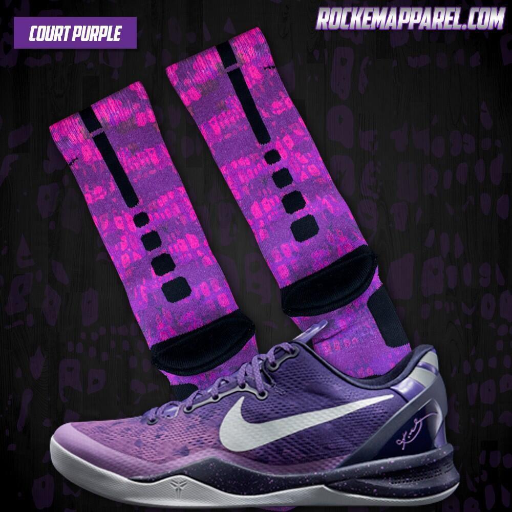 Nike Elite Socks Purple Purple Nike Elite Socks