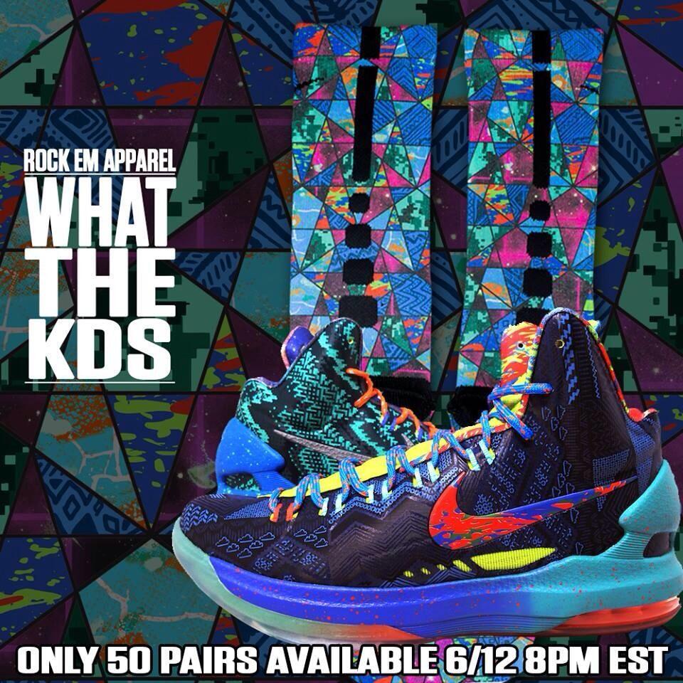 Custom what the kd nike elite socks by rockemapparel for Custom elite com