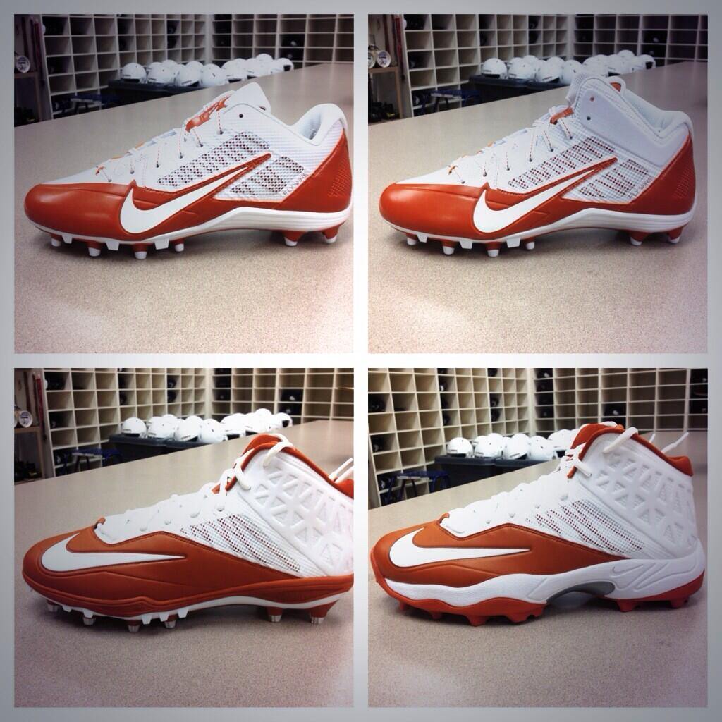 New Nike Football Cleats For Texas Longhorns