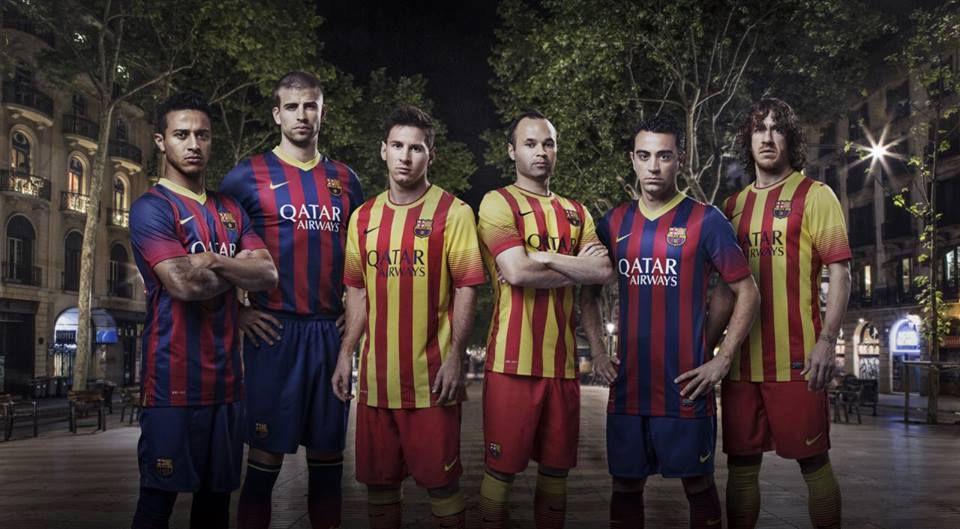 Johan Cruyff Jersey Barcelona fc Barcelona Jersey 2013 2014 Home And Away Sayuti Marz Cruyff