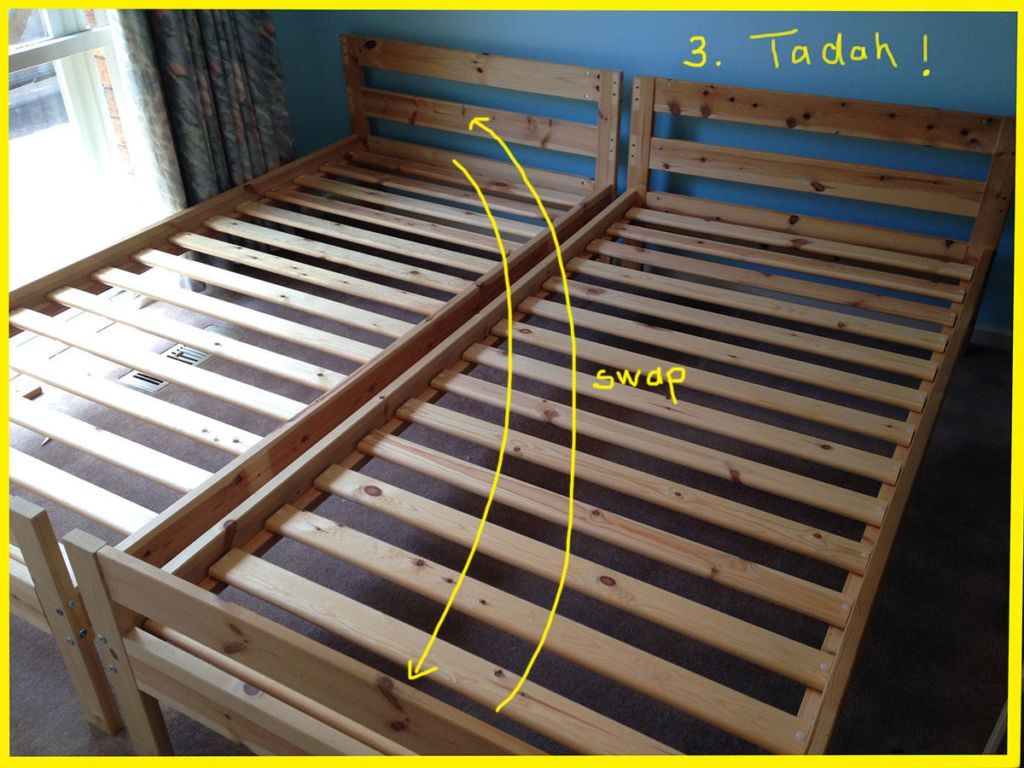loft bed with futon mydal bunk bed to single beds ikea hackers 7147