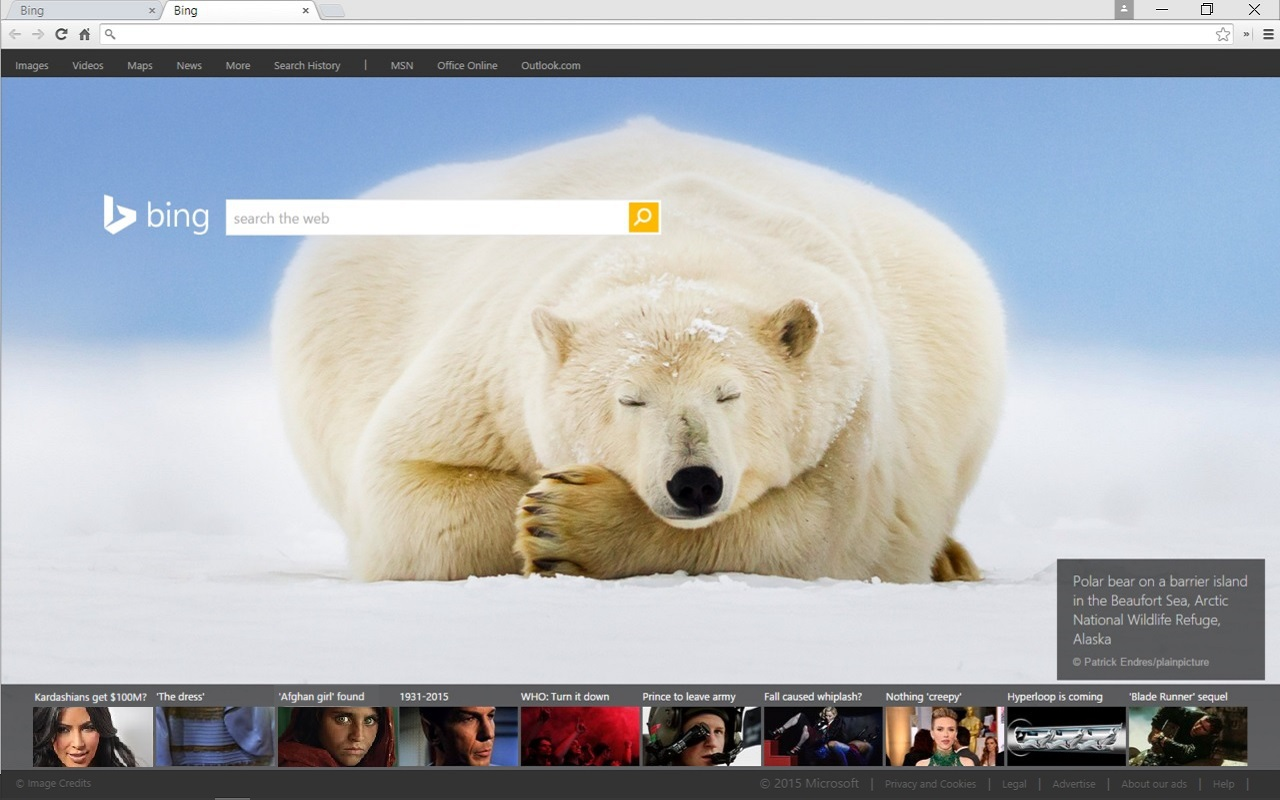 Experience The Bing Daily Homepage Image On Google Chrome