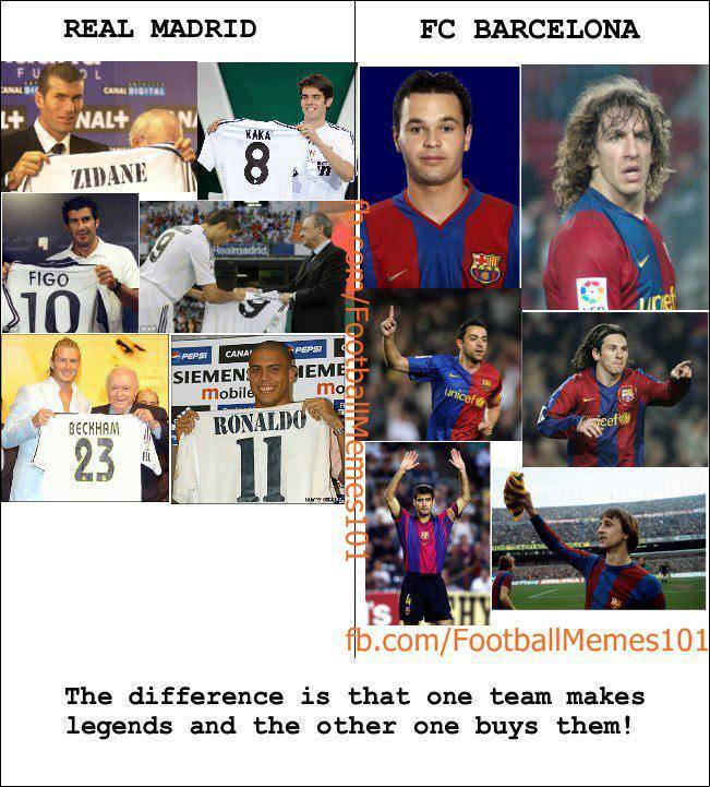 the difference between real madrid and barcelona
