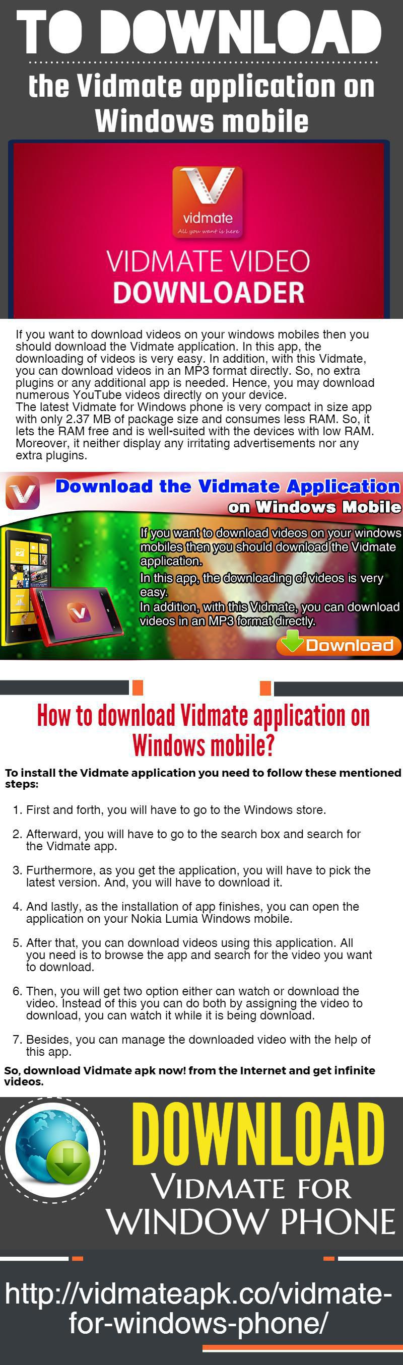 Vidmate video downloader help you to download videos and