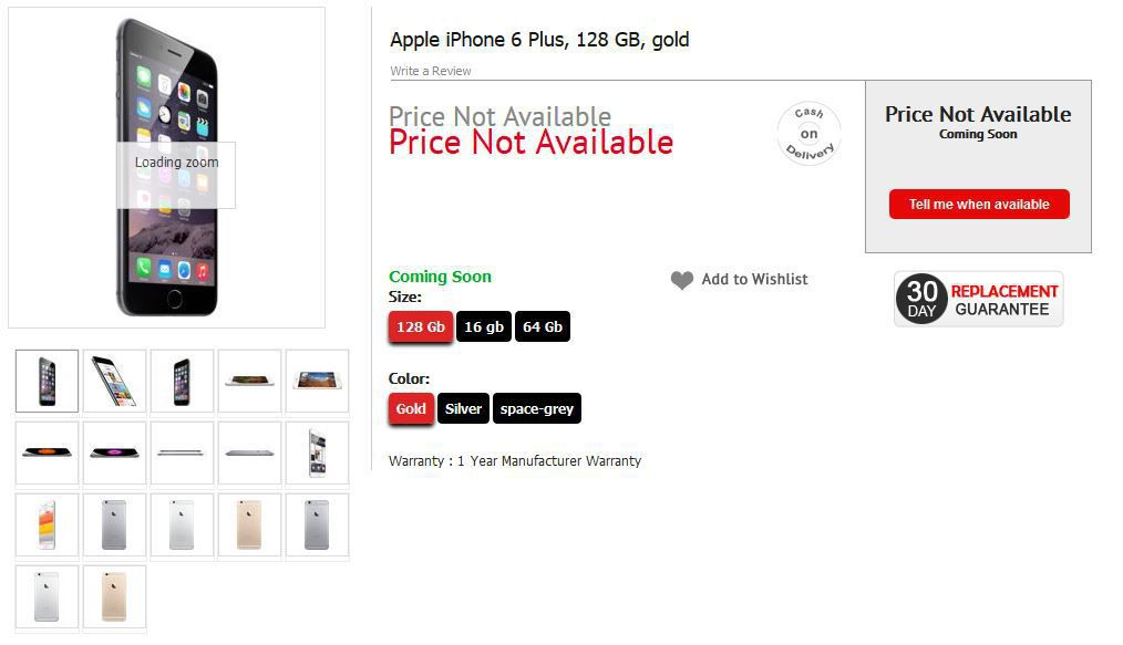 apple iphone 6 plus listed on airtel 39 s official website india. Black Bedroom Furniture Sets. Home Design Ideas