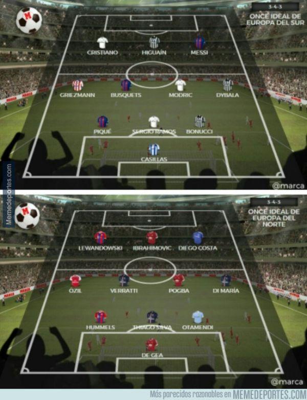 Futbol Club Barcelona >> Así serían los All Star del fútbol, si los hubiese