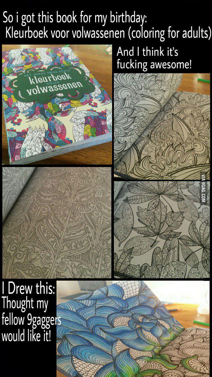 Coloring Book 9gag : Coloring for adults book (Kleurboek voor volwassenen)