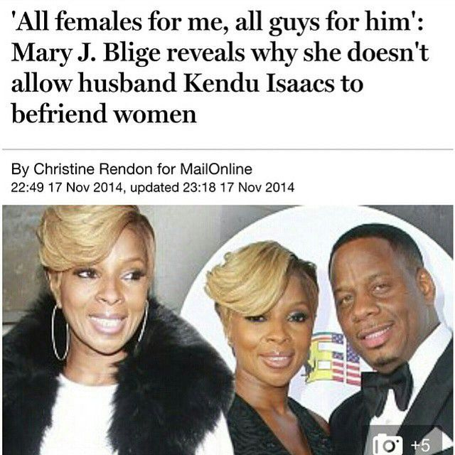 Does This Really Work Mary J Blige Doesnt Allow Her Husband To Have Female Friends -5178