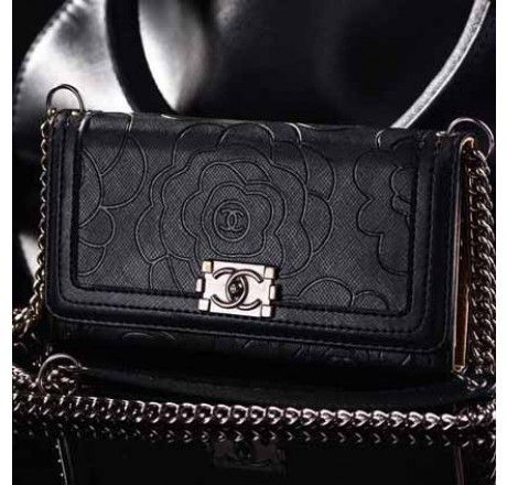 detailed look 547ea d235f Coolest Chanel iPhone 6 Plus Case Luxury Camellia Print Wallet Cover ...