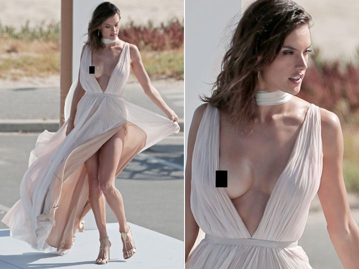 Wedding Nip Slip.Alessandra Ambrosio Classiest Nip Slip Ever Photos
