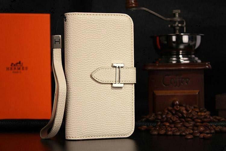 Hermes Samsung Galaxy S5 Book Wallet Case Beige