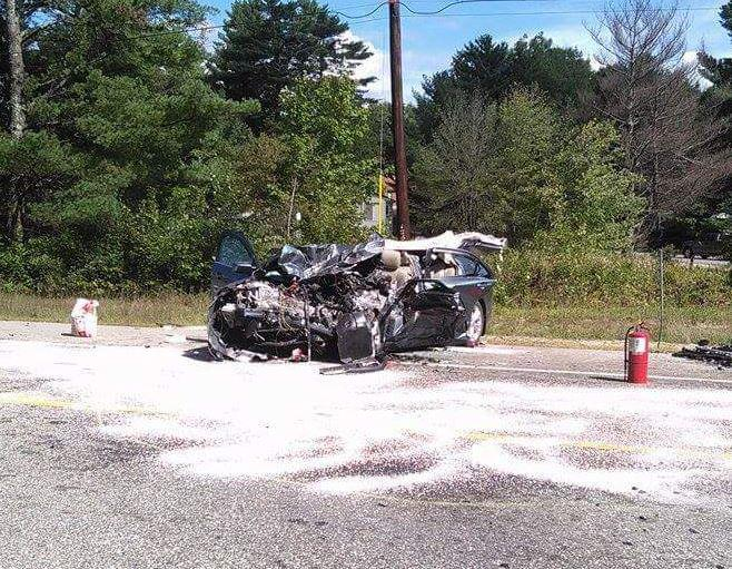 Nh Car Crash Airlifted