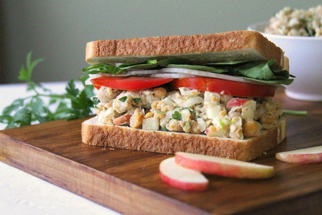 Super Fast Chickpea Sandwich [Vegan, Gluten-Free]