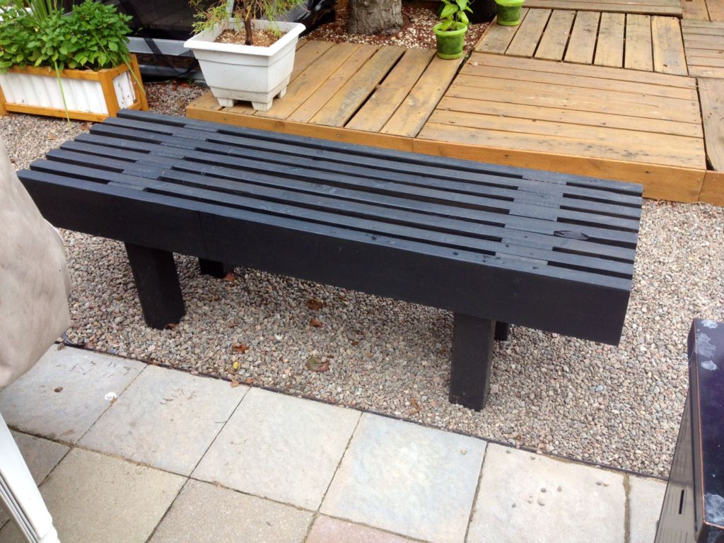 park bench banc de parc 1001 pallets. Black Bedroom Furniture Sets. Home Design Ideas