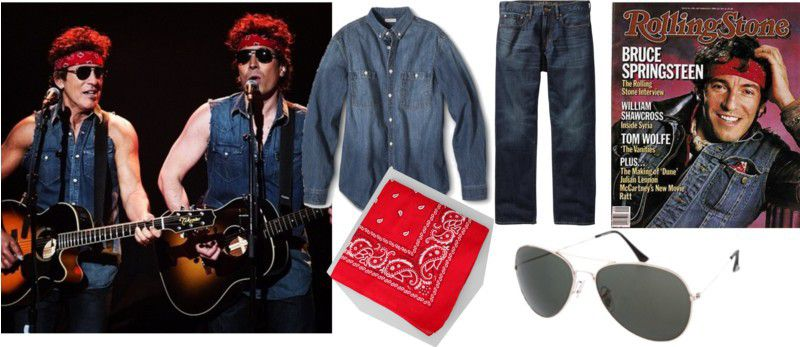 Easy Halloween costumes of Bruce Springsteen, David Bowie ...